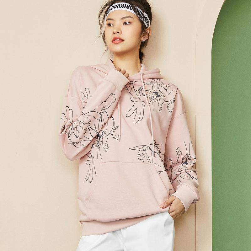 【猫和老鼠联名款】特步 男女同款卫衣 秋冬新款都市潮流时尚连帽卫衣880327930145