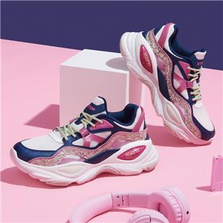 特步 专柜款 女子休闲鞋 20年新款时尚炫彩老爹鞋980318320623