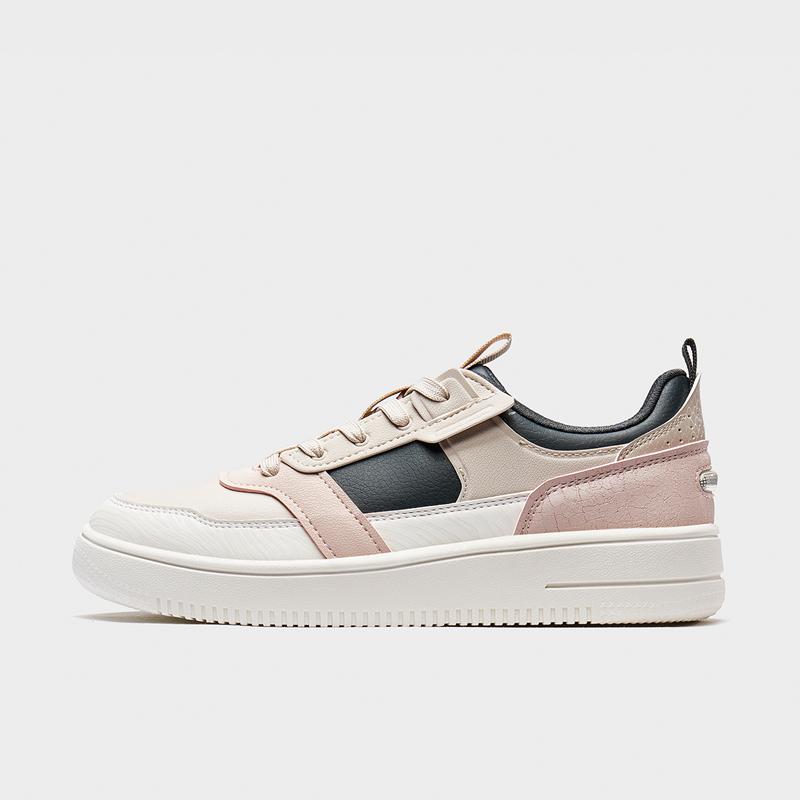 特步 女子板鞋 20年新款百搭时尚撞色板鞋880418310026