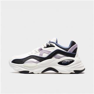特步 专柜款 女子休闲鞋 20年新款时尚革面运动鞋980318320629