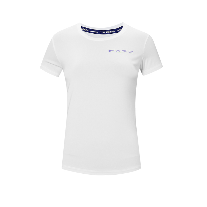 特步 专柜款 女子短T恤 新款 舒适活力针织衫980328010446