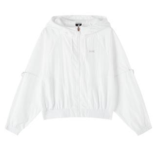 特步 专柜款 女子风衣 20年新款 潮流时尚连帽外套双层风衣980328150052