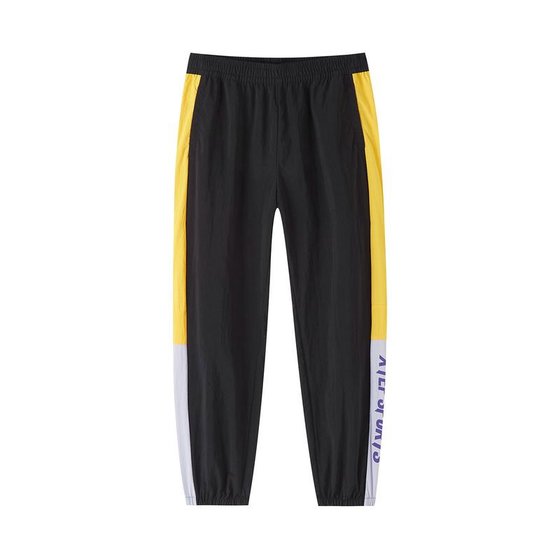特步 专柜款 女子休闲裤 20年新款潮流宽松百搭九分裤梭织针织裤980328570165