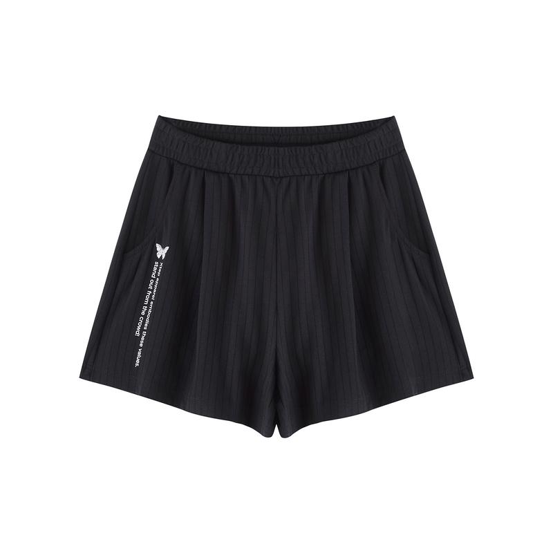 特步 专柜款 女子运动短裤 新款透气宽松跑步针织短裤980328600575