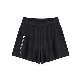 特步 专柜款 女子运动短裤 20年新款透气宽松跑步针织短裤980328600575