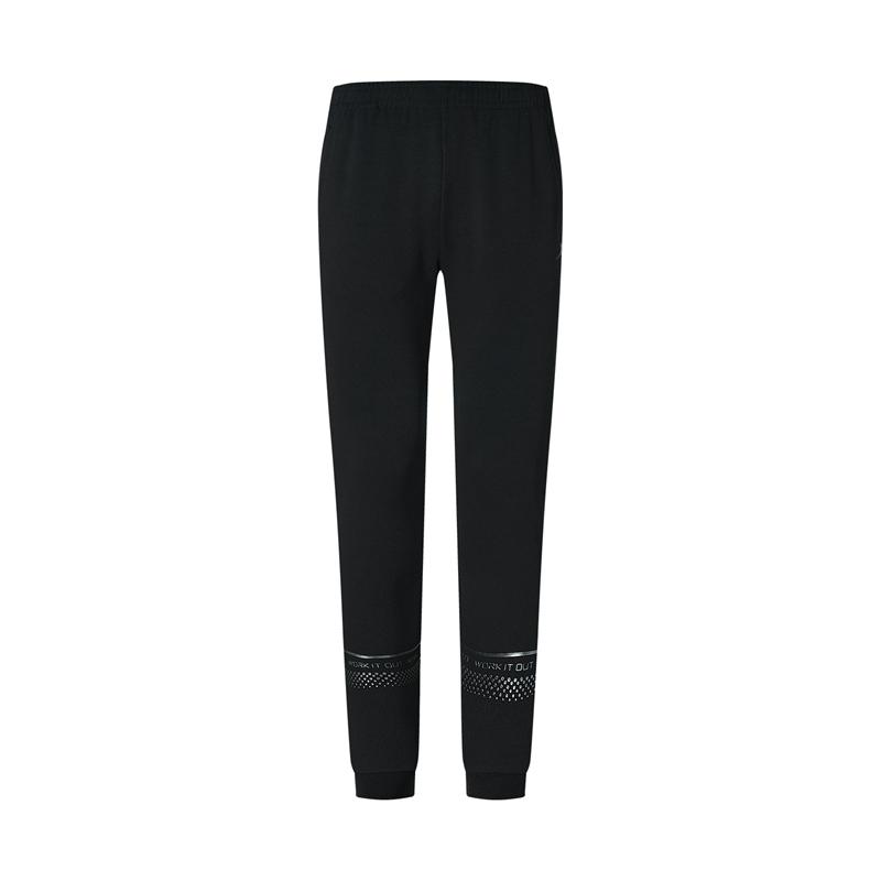 特步 专柜款  女子针织长裤 20年新款女子训练裤跑步裤980328630582