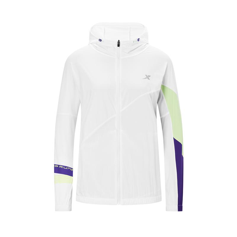 特步 专柜款 女子针织上衣 20年新款 跑步运动时尚连帽外套980328940587