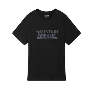 特步 专柜款 男子短T恤 20年新款 圆领宽松舒适短袖针织衫980329010256