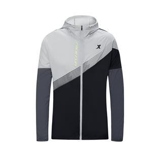 特步 专柜款 男子单风衣 20年新款 跑步运动连帽外套980329140398
