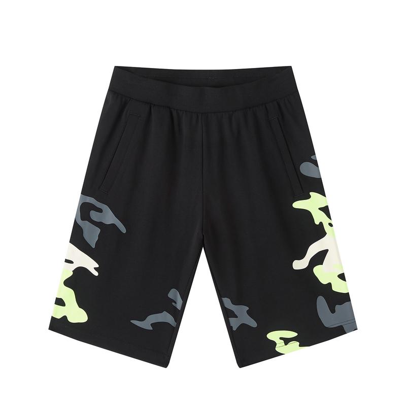 特步 专柜款 男子针织中裤 20年新款时尚都市百搭运动短裤980329610259