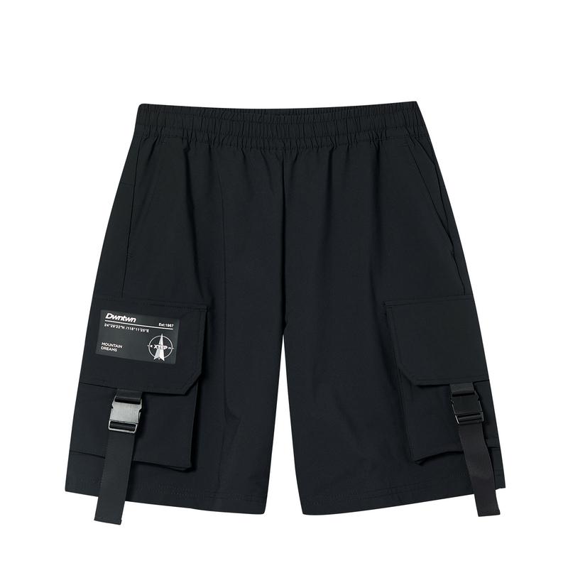 特步 专柜款 男子短裤 20年新款 都市潮流梭织五分裤短裤980329990263