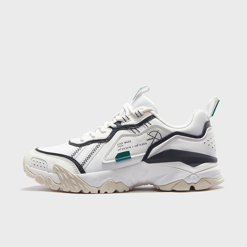 特步 专柜款 男子都市鞋 20年新款 流行耐磨休闲老爹鞋980319393221