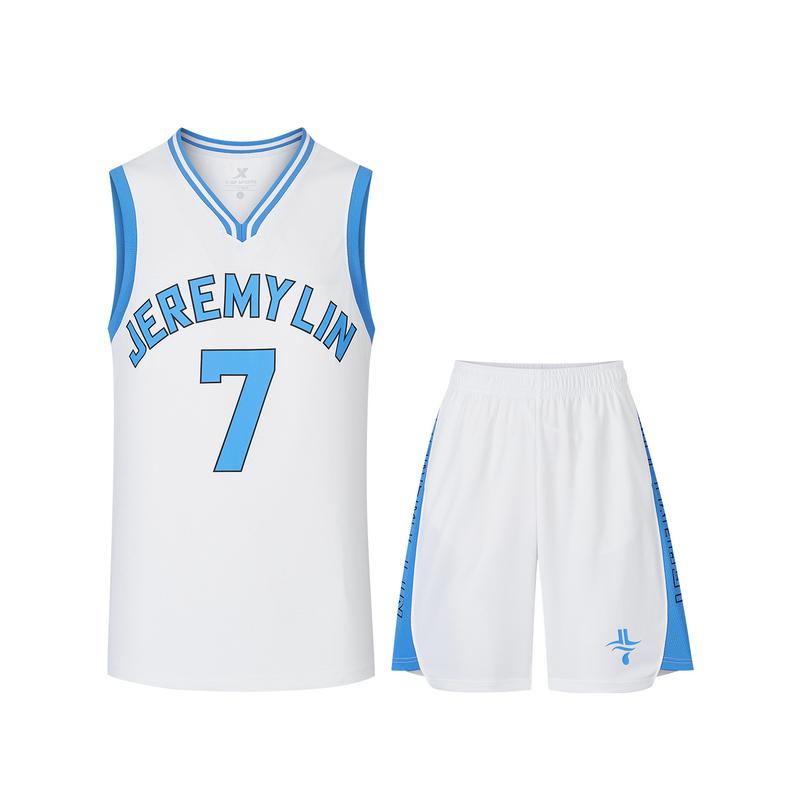 特步 专柜款 男子短袖 20年新款 运动篮球衣2件套T恤 980329680552