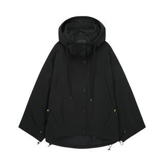 特步 女子风衣 20年新款 都市潮流时尚连帽保暖双层风衣880328150086