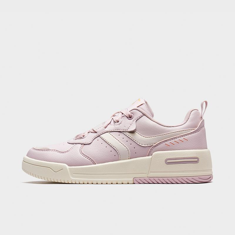 特步 女子板鞋 20年新款 都市休闲简约百搭女子休闲板鞋880318316055