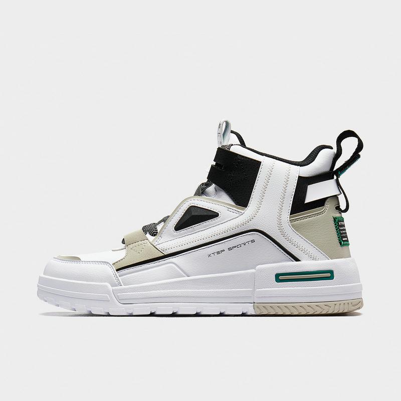 【二次元】特步 男子板鞋 20年新款 撞色街头复古潮流高帮休闲板鞋880419310121