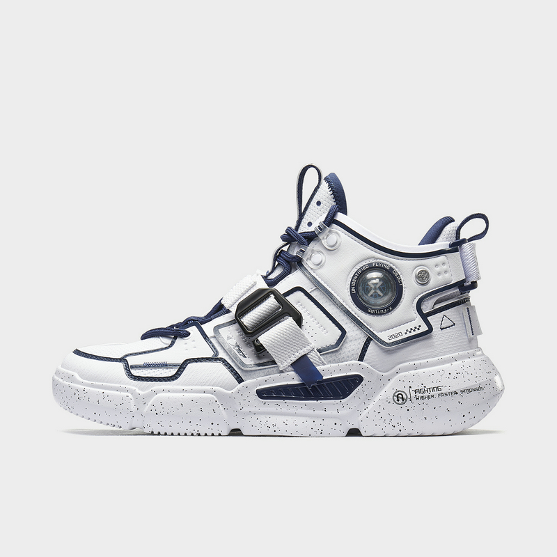 特步 男子篮球鞋 20年新款 街头潮流休闲高帮厚底篮球鞋880319120111