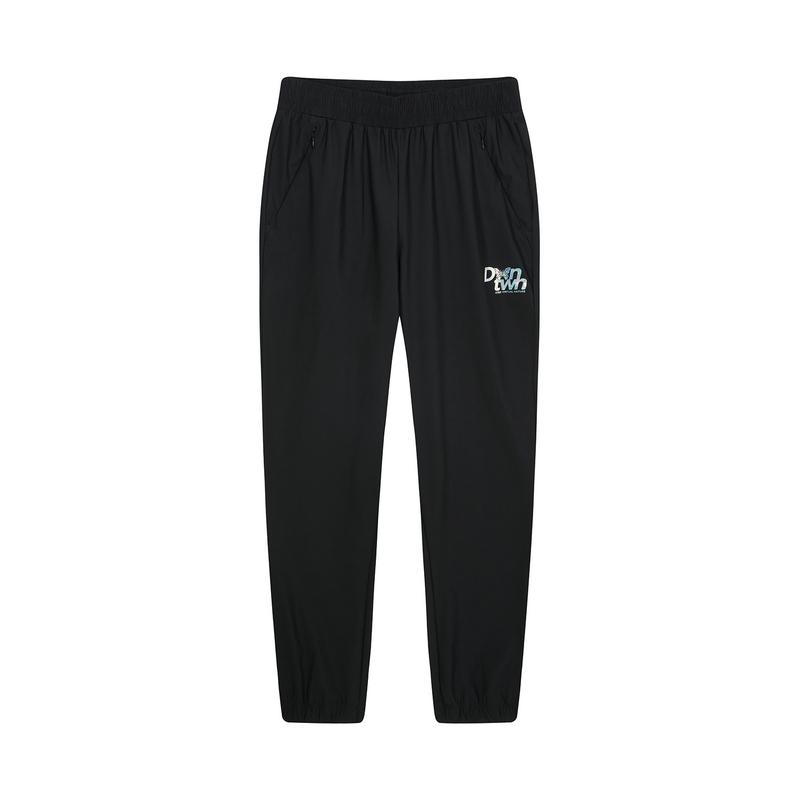 特步 专柜款 女子针织九分裤 20年新款直筒时尚宽松针织裤980328840299