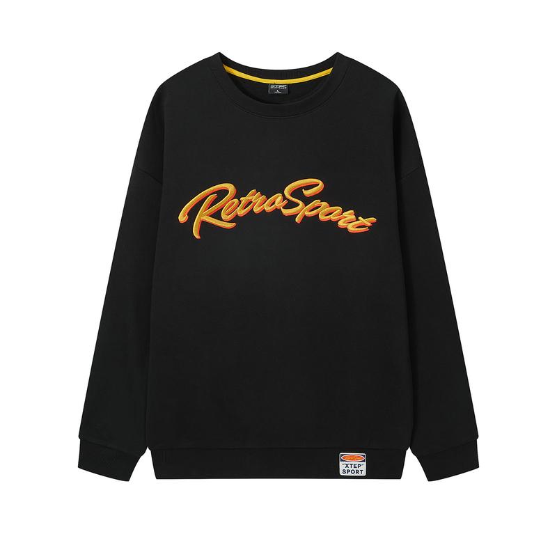 特步 男子卫衣 20年新款 都市潮流百搭套头卫衣880429920129