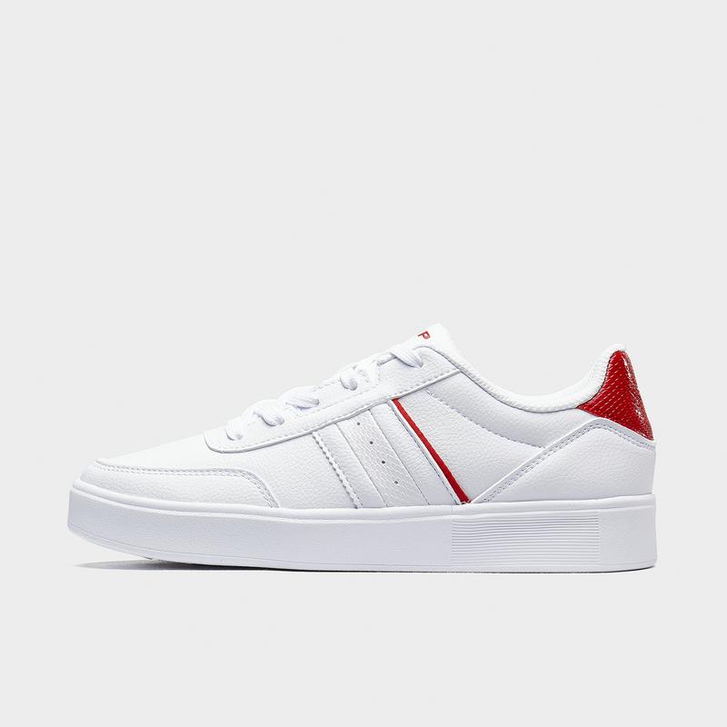 特步 专柜款 女子板鞋 20年新款简约时尚百搭小白鞋休闲板鞋980418316676