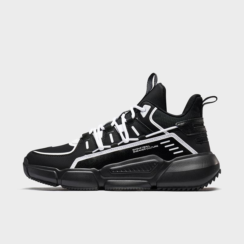特步 专柜款 男子篮球鞋 20年新款 中帮革面潮流球鞋980419121317