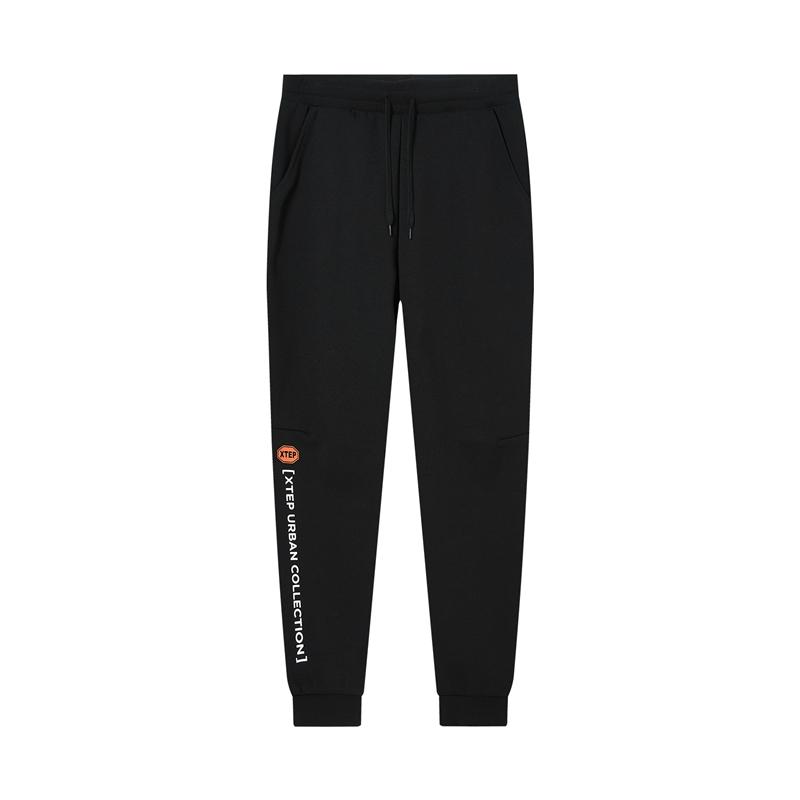 特步 专柜款 女子针织长裤 20年新款 运动休闲时尚针织裤980429630192