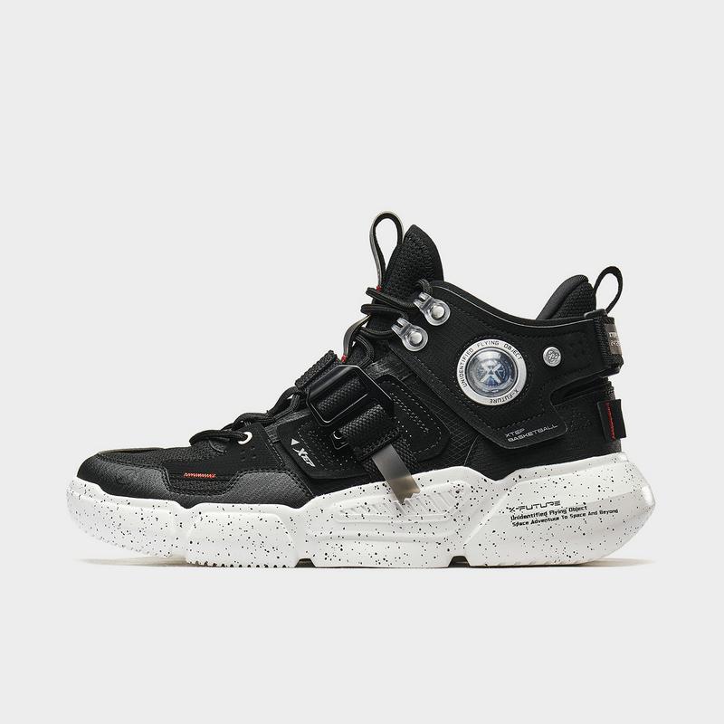 特步 男子篮球鞋 20年新款 高帮厚底潮流运动篮球鞋880319120006
