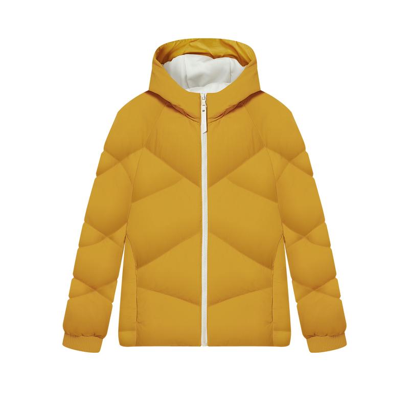 特步 专柜款 女子羽绒服 新款 保暖上衣连帽拉链棉衣980428190004