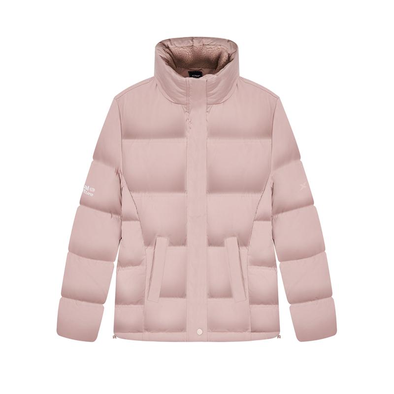 特步 专柜款 女子羽绒服 新款加绒保暖棉衣外套980428190220
