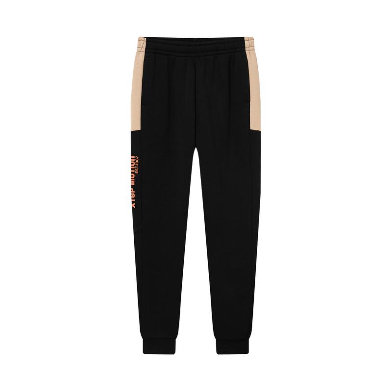 特步 专柜款 女子针织长裤 20年新款 时尚百搭缩口针织裤980428630014