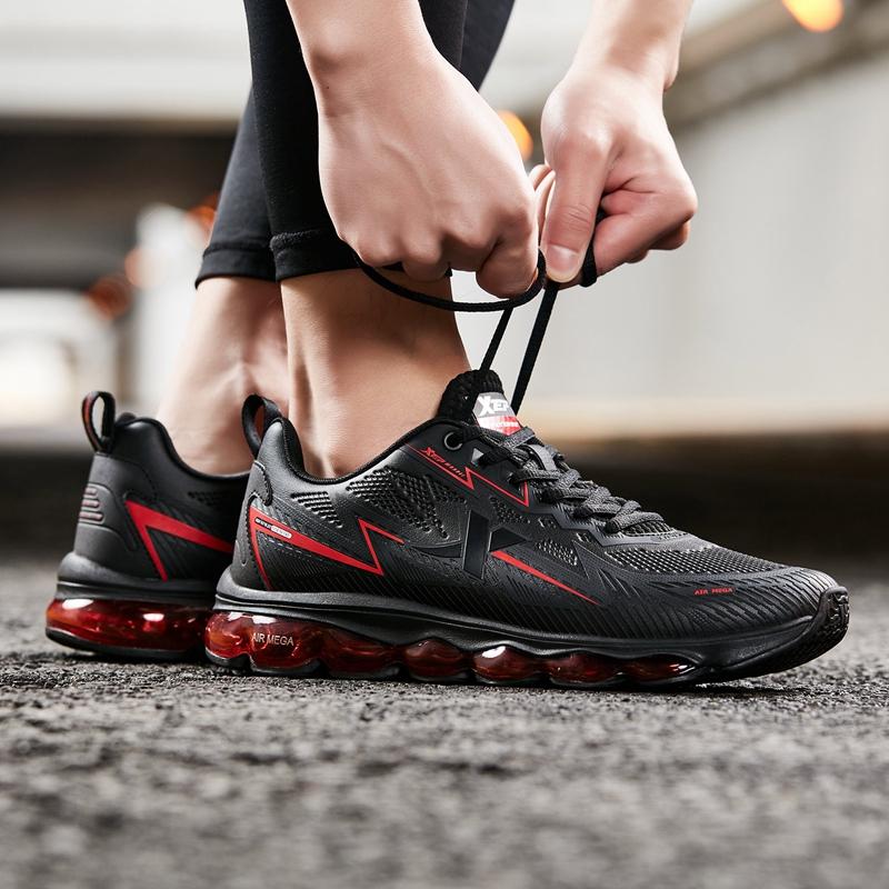 男子跑鞋 全掌气垫减震革面运动跑步鞋881419119659