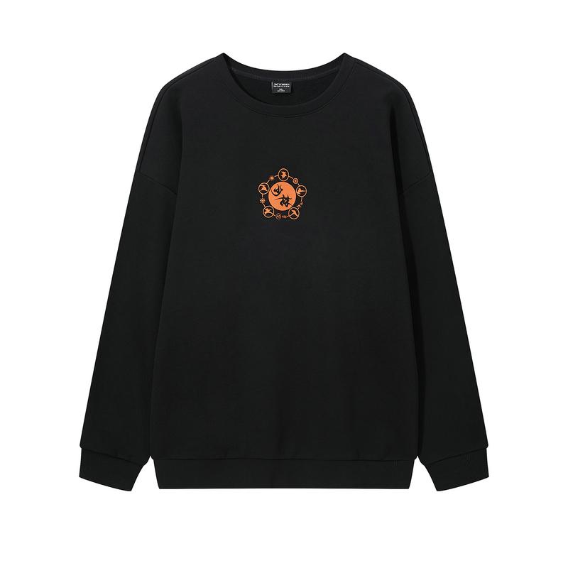 【少林联名】特步 男子卫衣 都市潮流百搭圆领套头卫衣880329920169