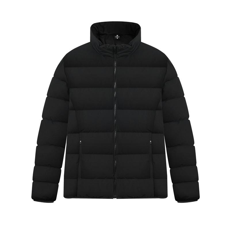 特步 专柜 男子羽绒服 20年新款 防风保暖灰鸭绒棉衣980429190521