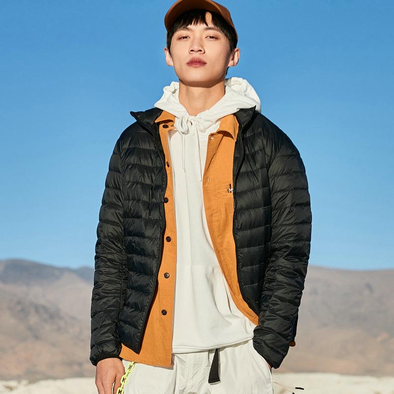 特步 男子羽绒服 20年冬季新款 时尚百搭都市保暖羽绒服880429190023