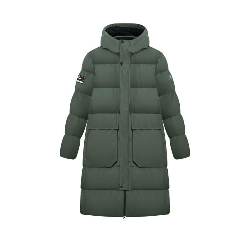 特步 专柜款 男子羽绒服 新款 都市时尚中长款保暖棉服 980429190204