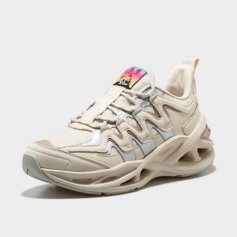 【厚底减震旋】特步 女子跑鞋 新款Yamy同款舒适百搭厚底减震旋运动鞋880418116583