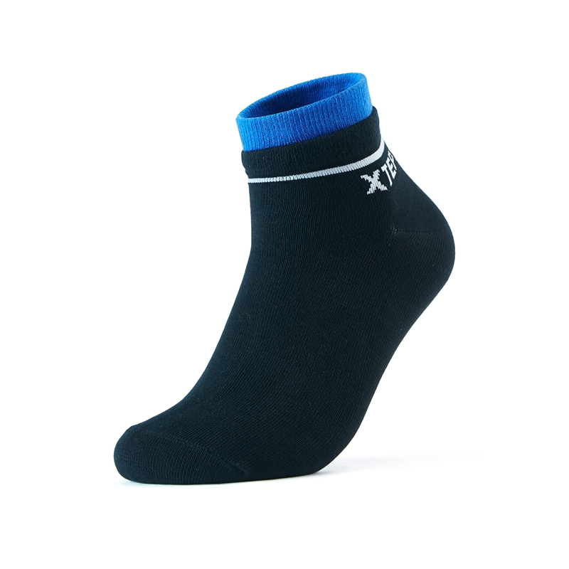 特步 男子运动袜 20年新款(三双装)舒适透气中筒袜子男平板中袜880439550032