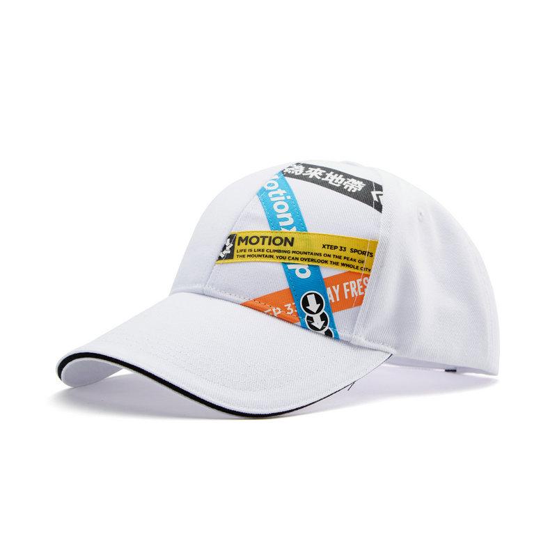 特步 男女同款运动帽 20年新款帽子防晒遮阳帽时尚百搭鸭舌帽880337210004
