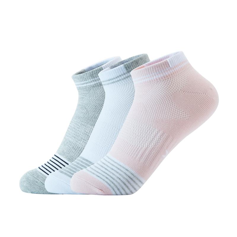 特步 女子运动袜  新款(三双装)舒适短袜四季透气棉质袜子880438540029