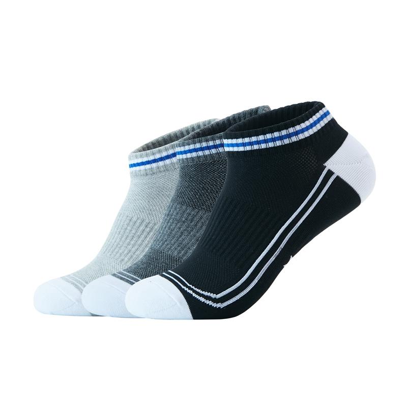 特步 男子运动袜 20年新款(三双装)舒适耐磨短袜四季透气棉质袜子男880439540030
