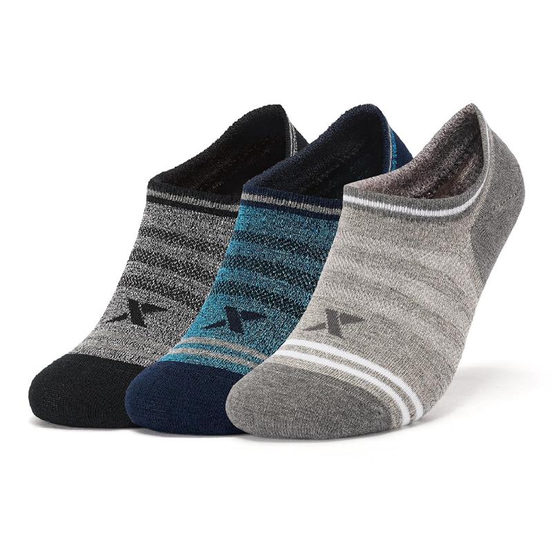 特步 男子袜子 20年新款平板船袜(三双装)舒适透气运动袜880239530020