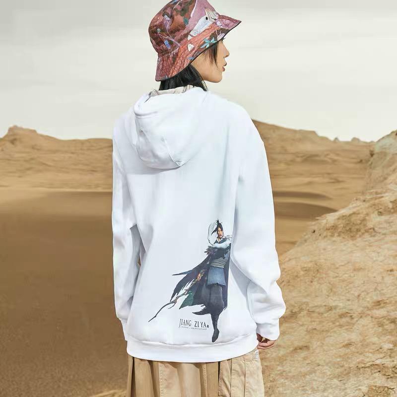 【姜子牙联名系列】特步 男女卫衣 新款男女同款连帽套头衫880129050142880129050142bb