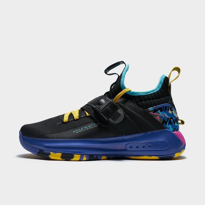 特步 专柜款 男子篮球鞋 新款 厚底高帮透气网面球鞋980419121367