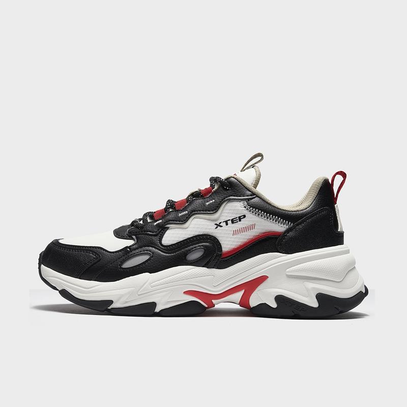 特步 专柜款 男子休闲鞋 20年新款 都市潮流厚底运动休闲鞋980419320510