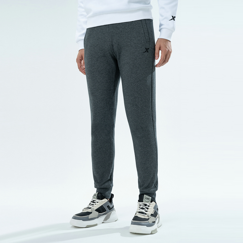 特步 专柜款 男子针织长裤 新款 时尚运动跑步休闲裤980429630299