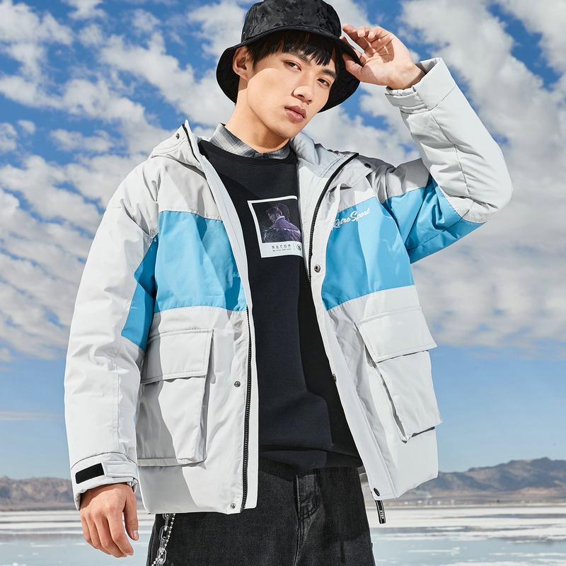 特步 男子羽绒服 20年冬季新款 都市百搭时尚羽绒外套880429190041