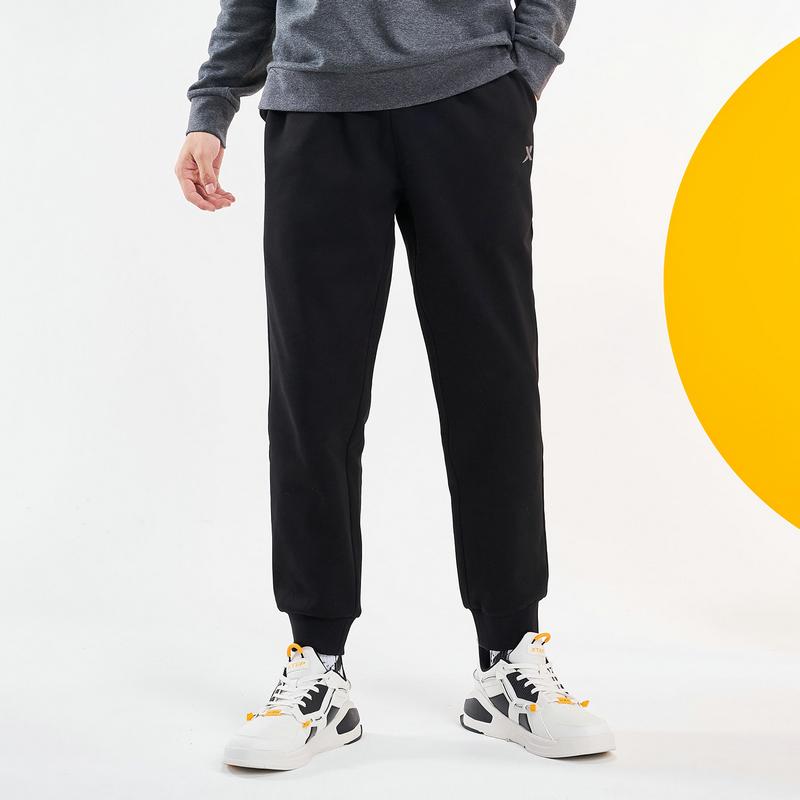 特步 男子针织长裤 20年新款 运动休闲百搭加绒收口长裤880429630142