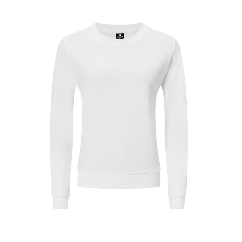 特步 女子卫衣 20年秋冬新款  跑步运动套头卫衣980328920041