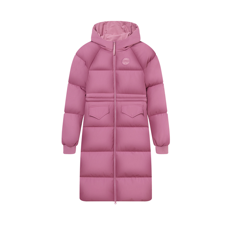 特步 专柜款 女子羽绒服 新款 保暖运动长款羽绒980428190099