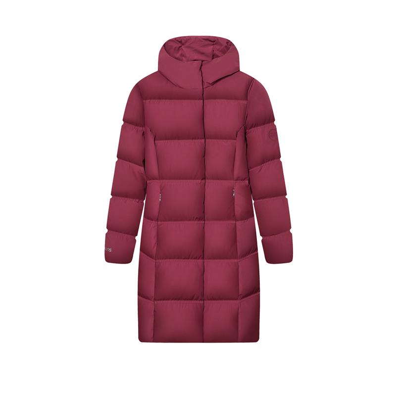 特步 专柜款 女子羽绒服 冬季新款 舒适保暖中长款外套980428190331